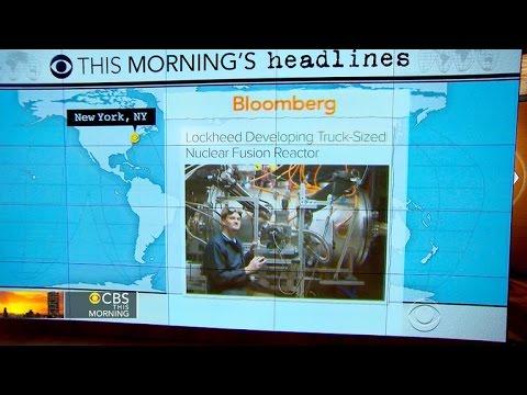 Headlines at 7:30: Lockheed Martin announces major breakthrough in nuclear fusion