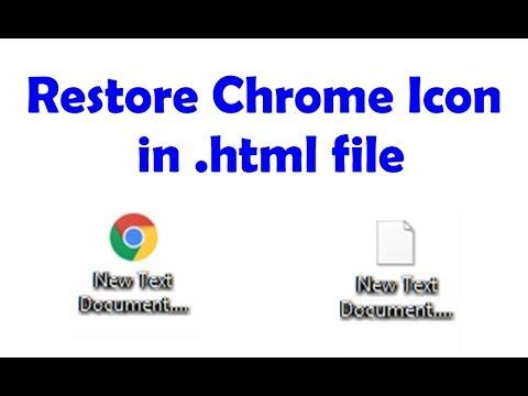Restore Chrome Image In . Html File