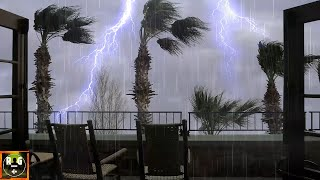 Loud Thunderstorm Sounds with Rain, Fierce Wind, Heavy Thunder and Lightning for Sleep, Study, Relax