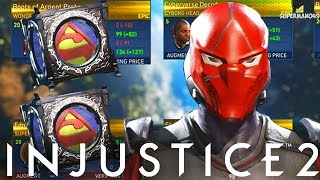 Hunt for epic red hood gear! - injustice 2 platinum mother box opening video!