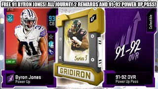 FREE 91 BYRON JONES! JOURNEY PART 2 REWARDS AND 91-92 POWER UP PASS!