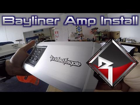 Rockford Fosgate Bayliner TM400X4AD AMP INSTALL!