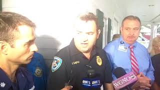 Lake Pontchartrain platform explosion response update from Jefferson Parish authorities