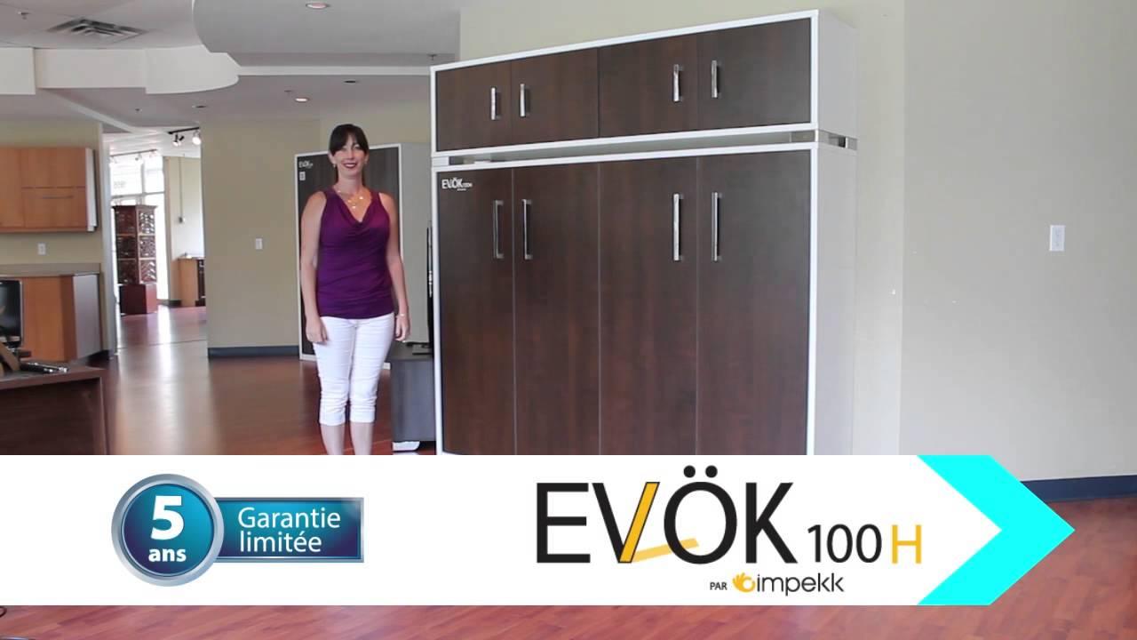 lit escamotable horizontal ev k 100h par impekk youtube. Black Bedroom Furniture Sets. Home Design Ideas