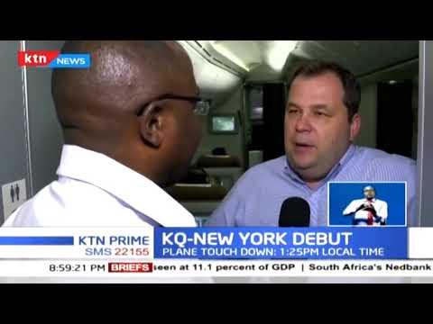 KQ Maiden flight lands in New York