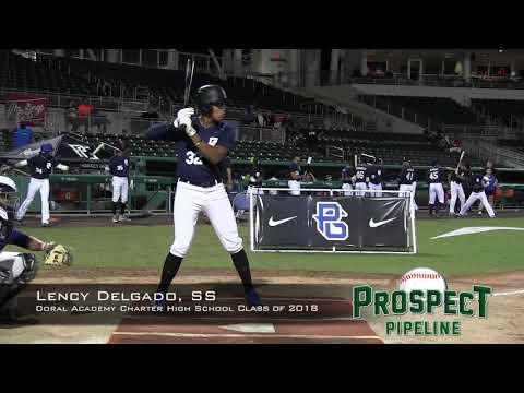 Lency Delgado prospect video, SS, St  Doral Academy Charter High School Class of 2018