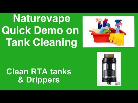 RDA/RTA Tank Cleaning The Easy Way....No Scrubbing Required