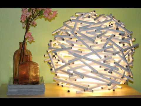 Reciclado lampara de papel youtube - Como hacer lamparas originales ...