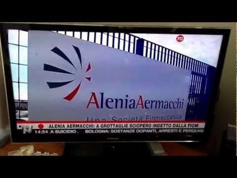 Sciopero lavoratori Alenia Aermacchi Grottaglie 11/03/2013 servizio TG TELENORBA