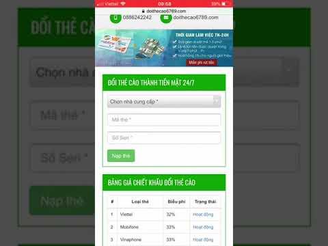 Hướng dẫn đổi thẻ cào, thẻ game thành tiền mặt chiết khấu tốt nhất – doithecao6789.com