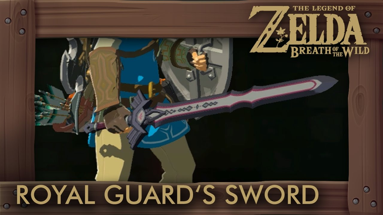 Zelda Breath of the Wild - Royal Guard's Sword Locations (Master Sword  Replica)