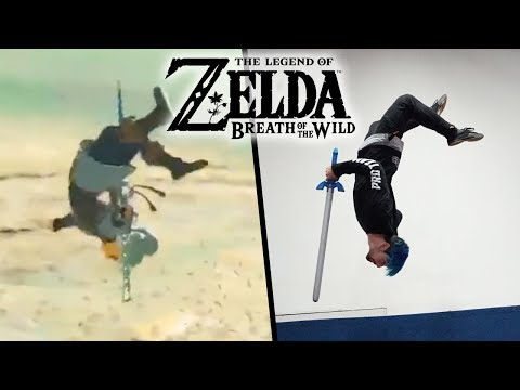 Stunts From Legend Of Zelda: Breath Of The Wild In Real Life Parkour