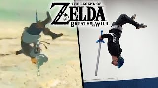 stunts from legend of zelda breath of the wild in real life parkour