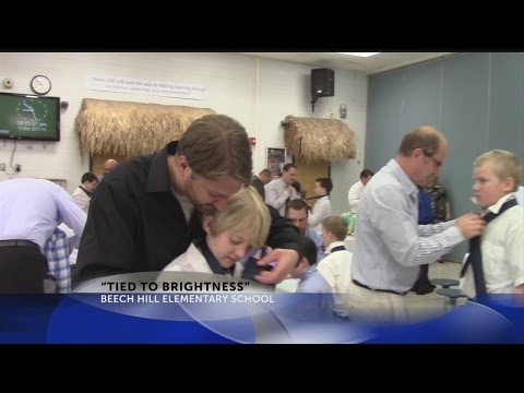 """Rob Fowler visits Beech Hill Elementary School for """"Tied to Brightness"""""""