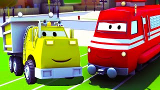 Troy The Train and the Dump Truck in Car City | Cars & Trucks cartoon for children