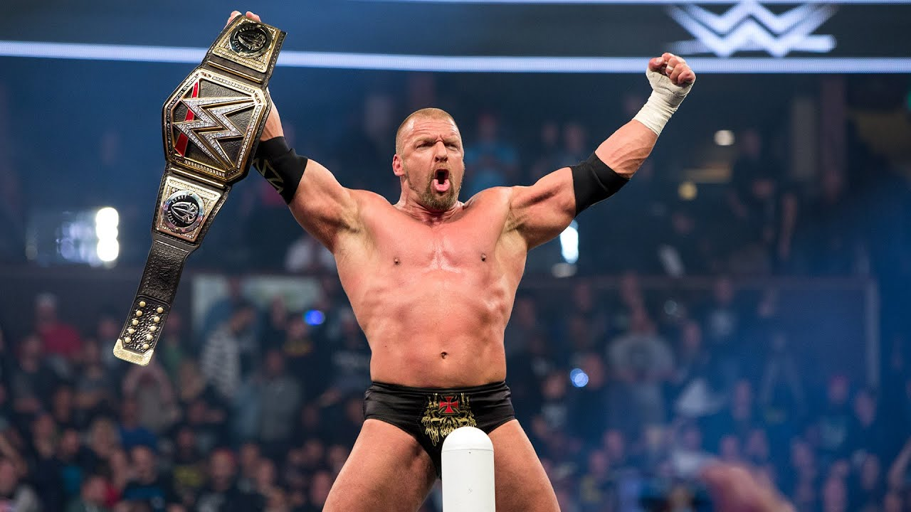 Triple H's 14 World Title victories - YouTube