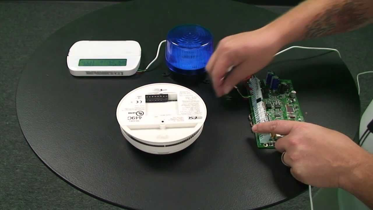 how to wire a smoke detector to an alarm control panel