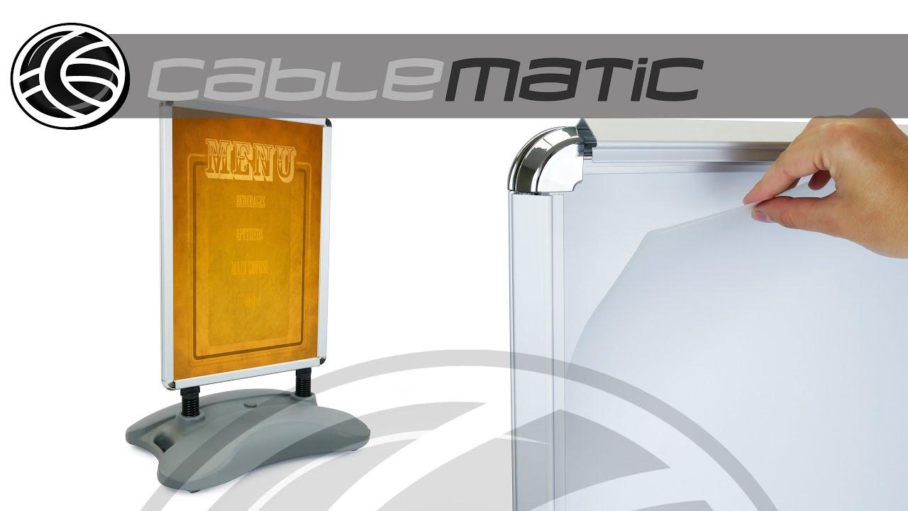 Panel valla publicitaria de doble marco A1 635x885mm con peana ...