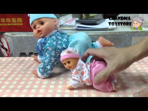 Unboxing TOYS Review/Demos - Cute fun talking babysister Crawling Baby learning speaking dancing set