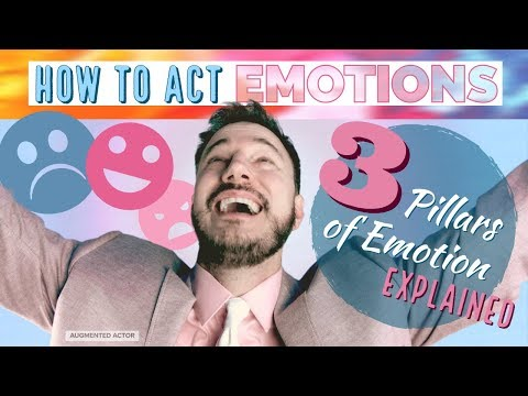 How to Act Emotions - 3 Pillars of Emotion Explained