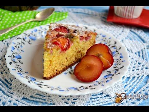 Пирог со сливами в мультиварке на кефире