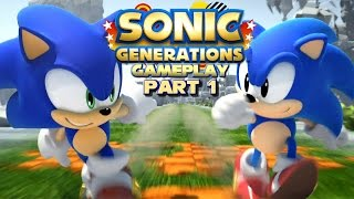 Sonic Generations Gameplay - Part 1 - Green Hill Zone