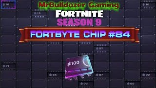 Fortnite Season 9 Fortbyte Chip #84 Awarded at Battle Pass Tier 60