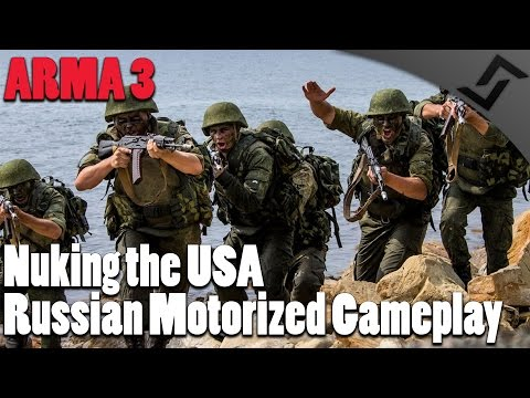 Nuking the USA - ARMA 3 - Russian Motorized Gameplay - RHS Mod Gameplay