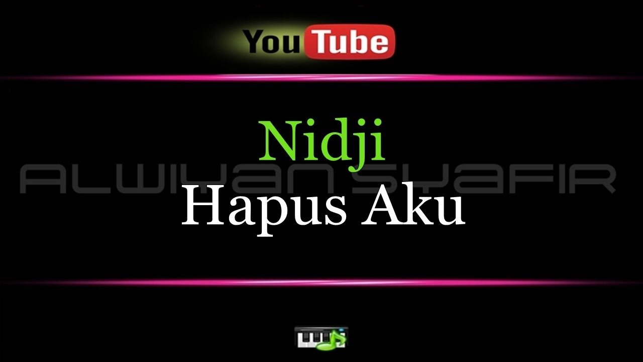 Not lagu nidji hapus aku | lhia's music notes.