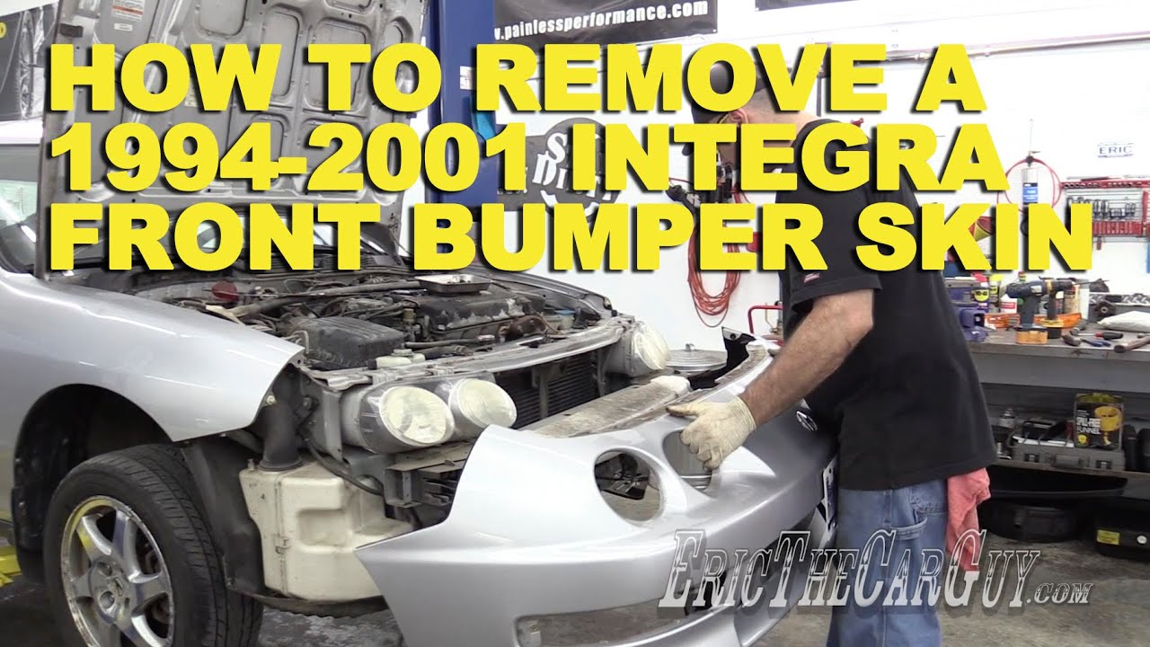 How To Remove A Integra Front Bumper Skin YouTube - Acura integra front bumper