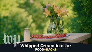 Whipped Cream in a Jar | Mary Beth Albright's Food Hacks