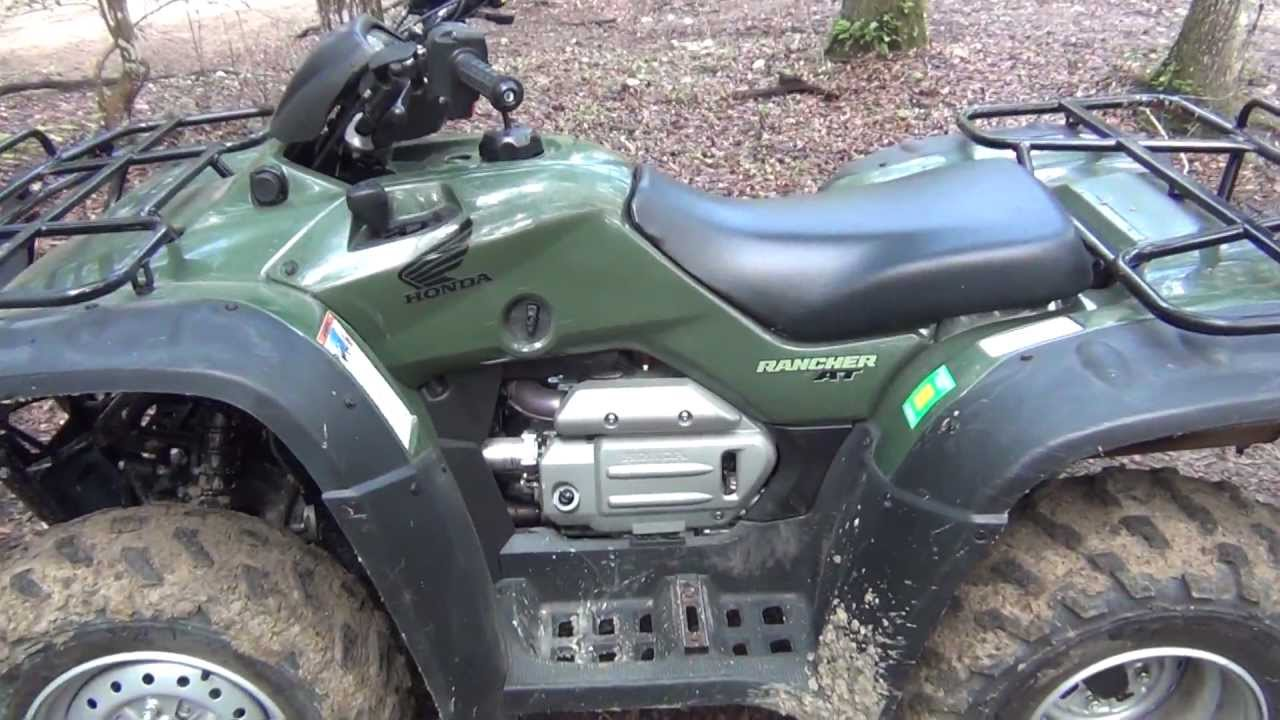 2007 Honda Rancher 4x4 Electric Shift Automatic GPS - YouTube