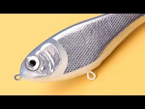 MAKING HOMEMADE JERKBAIT ( WOOD FISHING LURE)
