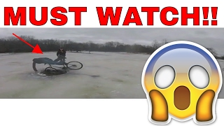 Mountain bikes on ice? Let's try it!