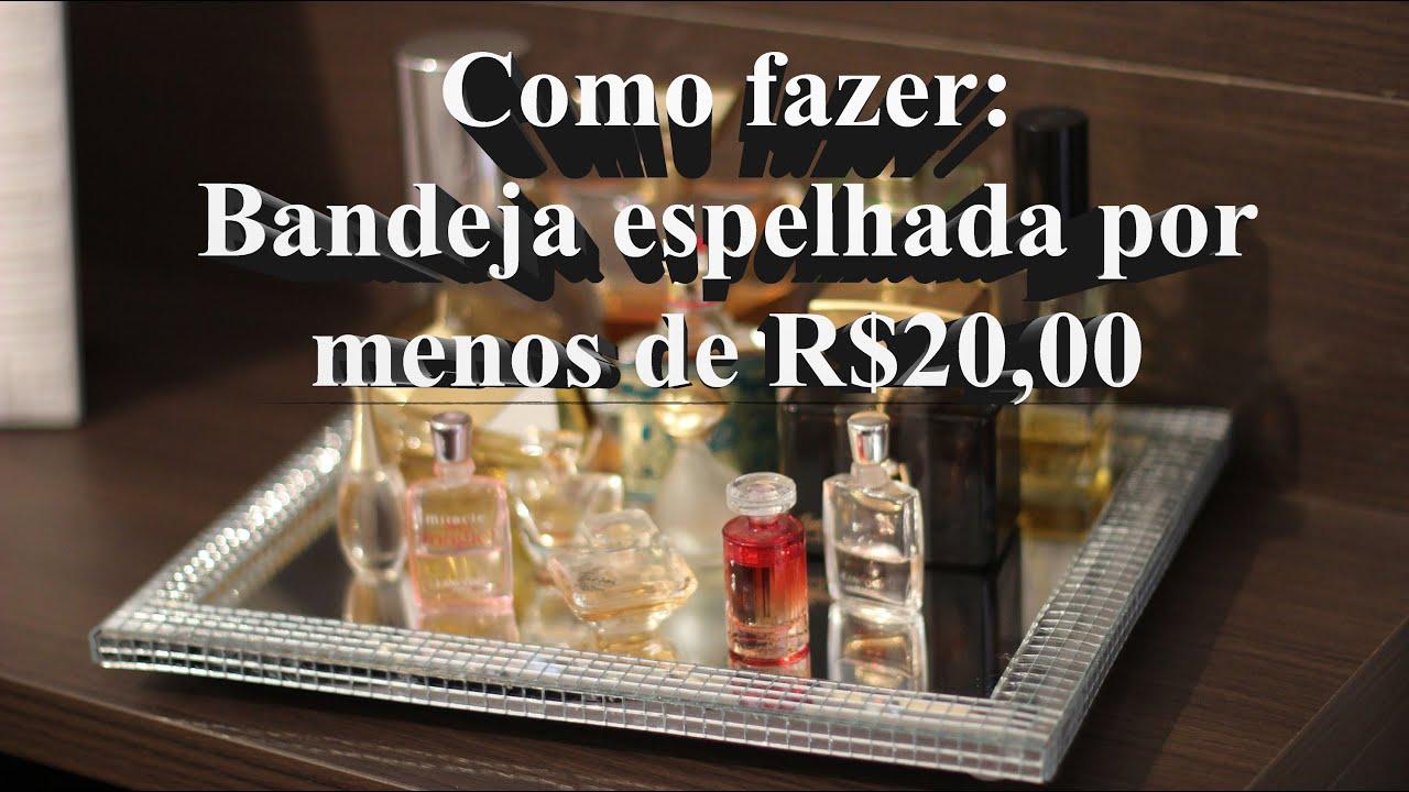 DIY Bandeja espelhada por menos de R$20 00   #A62E25 3000x1685 Balança De Banheiro Curitiba