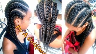Tutorial : 6 Invisible / Feeding cornrows from different angles (Straight back braids)