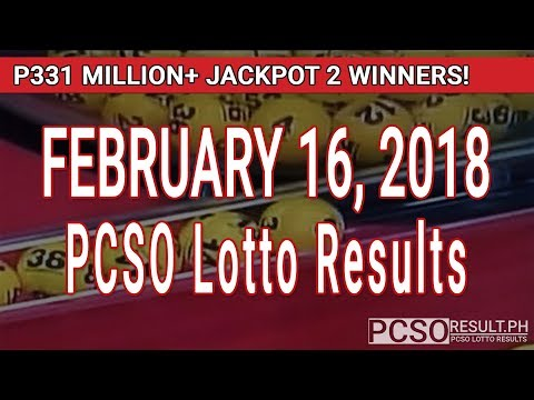 PCSO Lotto Results Today February 16, 2018 (6/58, 6/45, 4D, Swertres, STL & EZ2)