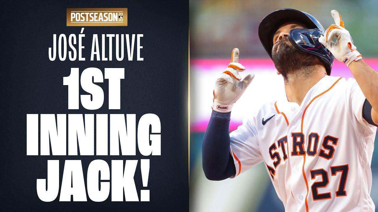 José Altuve cranks 1st inning HR to put Astros ahead in ALCS Game 4!