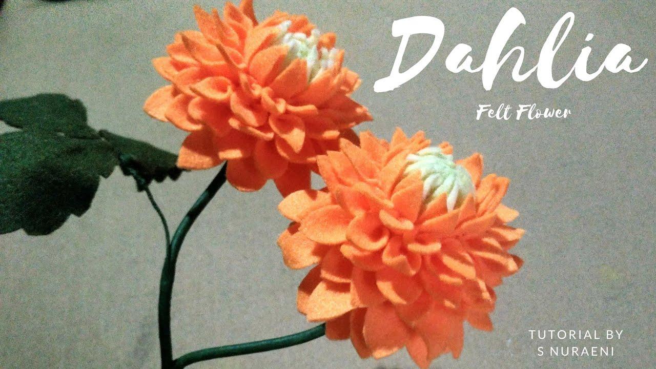 Diy Handmade Dahlia Felt Flowers Felt Flower Tutorial By S