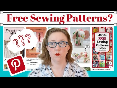 4,000 FREE SEWING PATTERNS On PINTEREST, Finding Free VINTAGE And MODERN Patterns On Pinterest, 2020