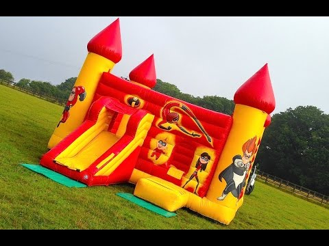 Thumbnail: Massive Disney 'The Incredibles' Inflatable Bouncy Castle - The Incredibles