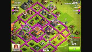 """Clash of Clans - """"Game Of Thrones"""" Raid in Crystal League!"""