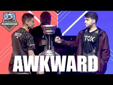 """""""Gentlemen, Shake Hands"""" - Awkward Pre-Finals Interview - Halo World Championship 2018"""