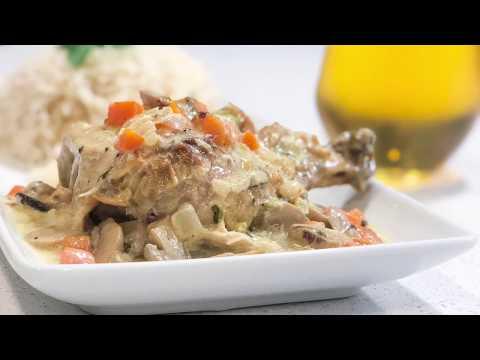 poulet-à-la-sauce-aux-champignon