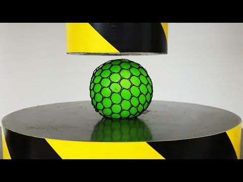 EXPERIMENT HYDRAULIC PRESS 100 TON vs Anti Stress Balls