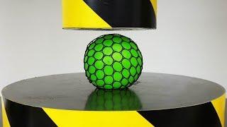 EXPERIMENT HYDRAULIC PRESS 100 TON vs Anti Stress Balls
