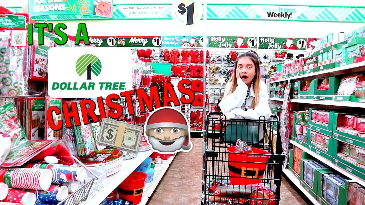 Dollar Tree Christmas Shopping and Haul Vlog ������ - YouTube