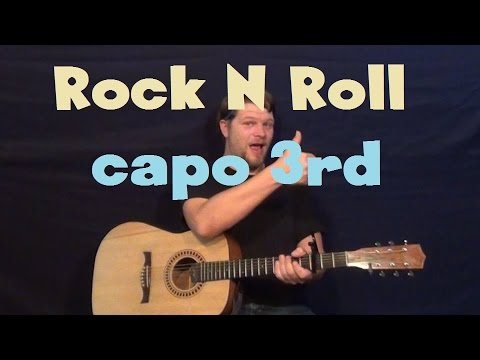 Rock N Roll (Avril Lavigne) Easy Guitar Lesson Strum Chord How to Play Tutorial Capo 3rd