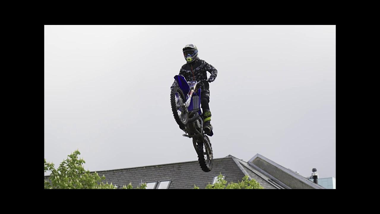 Fmx Free Style Motocross show m/ Alex Porsing og co  På Torvet i Herng