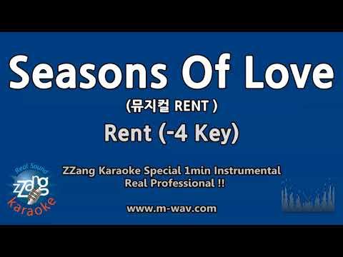 Rent-Seasons Of Love (-4 Key) (뮤지컬 RENT) (1 Minute Instrumental) [ZZang KARAOKE]